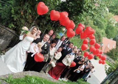 Herzballons mit Brautpaar - Kopie